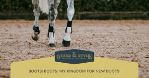 why horses need boots